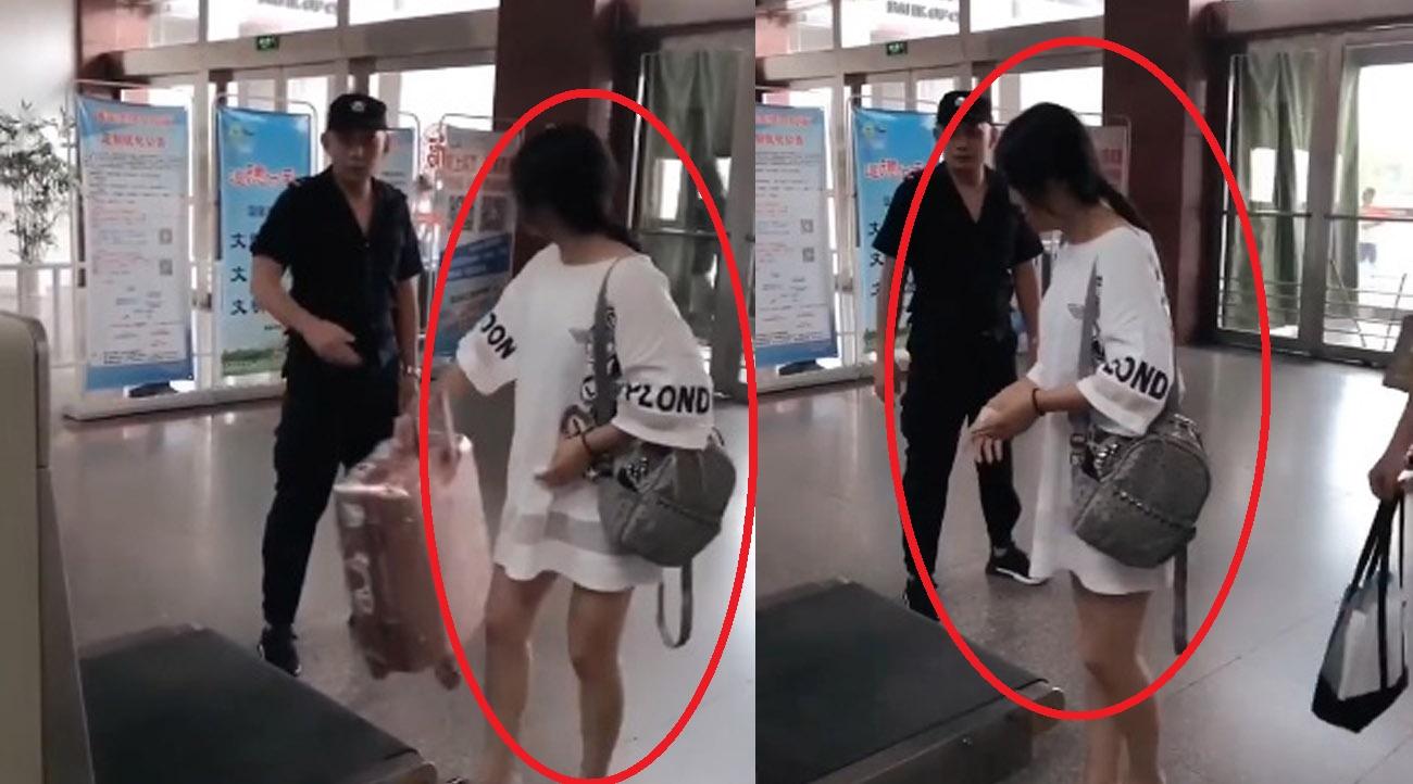 ฮาทั้งสถานี!! สาวจีน เพิ่งเคยสแกนกระเป๋าครั้งแรก งานนี้ปล่อยไก่เต็มๆ